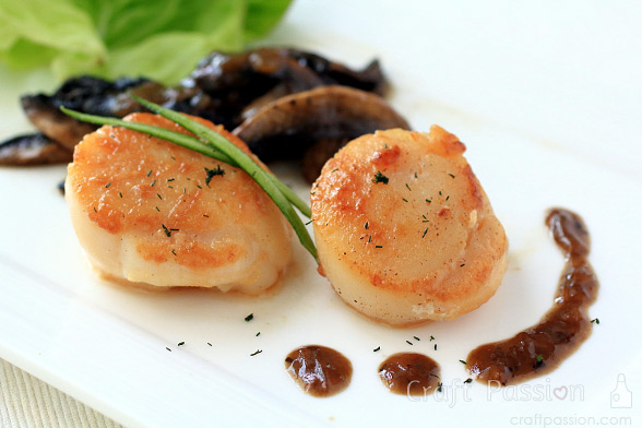 scallops mushrooms recipe