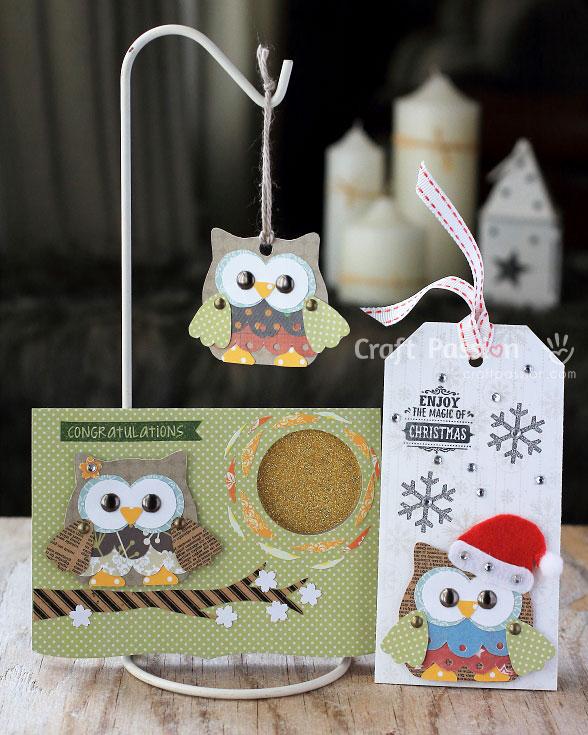 owl scrapbooking card