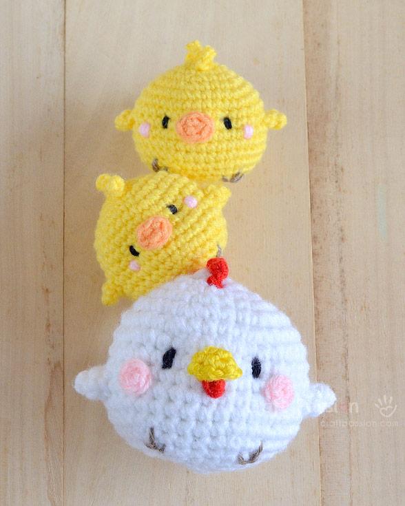 hen & chicks amigurumi pattern