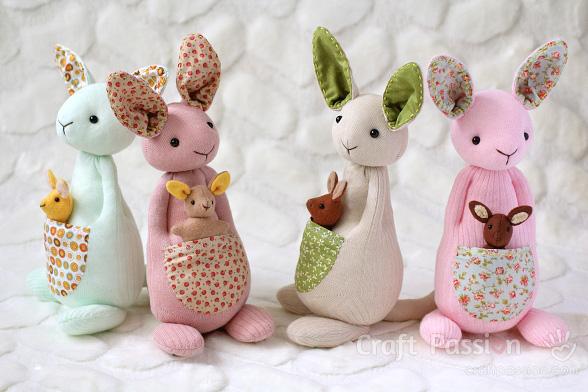 sock kangaroo pattern
