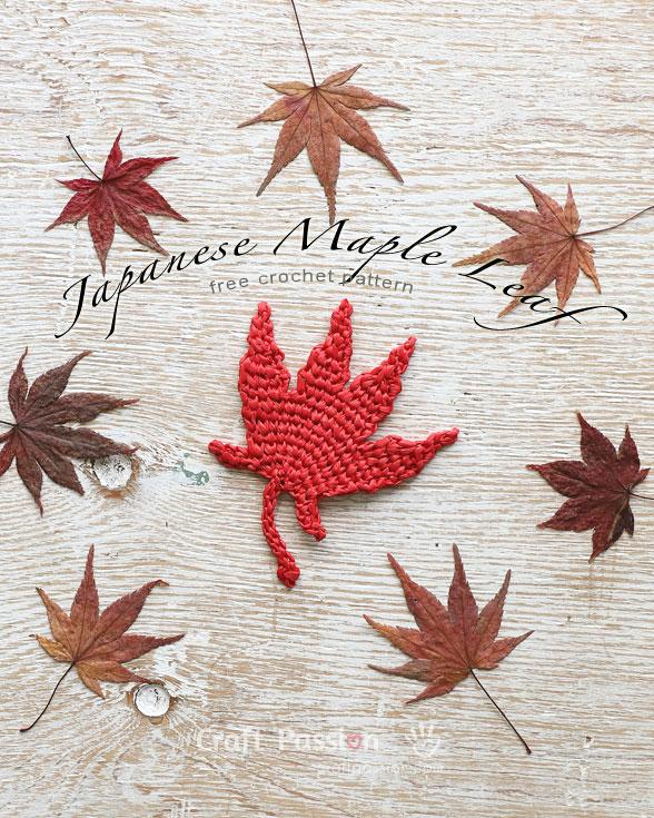 Japanese Maple Leaf Free Crochet Pattern Craft Passion