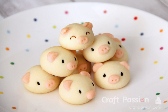 pig butter cookie