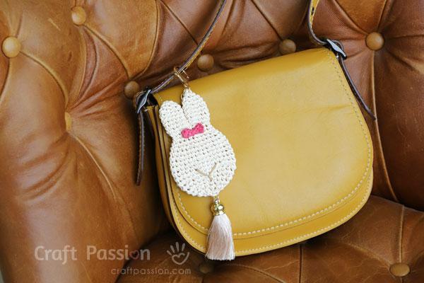 trendy bunny bag pendant