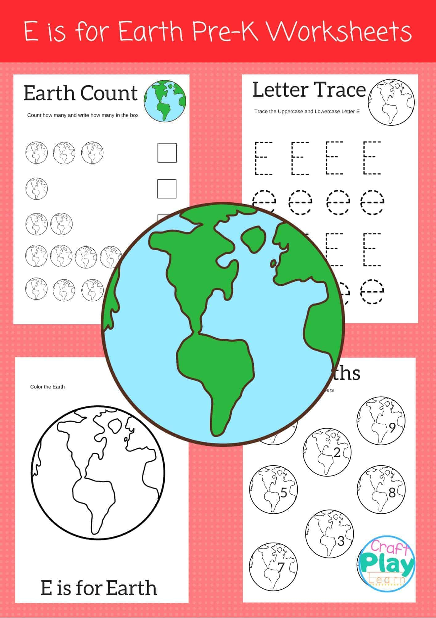 Letter E Worksheets For Preschool Kids