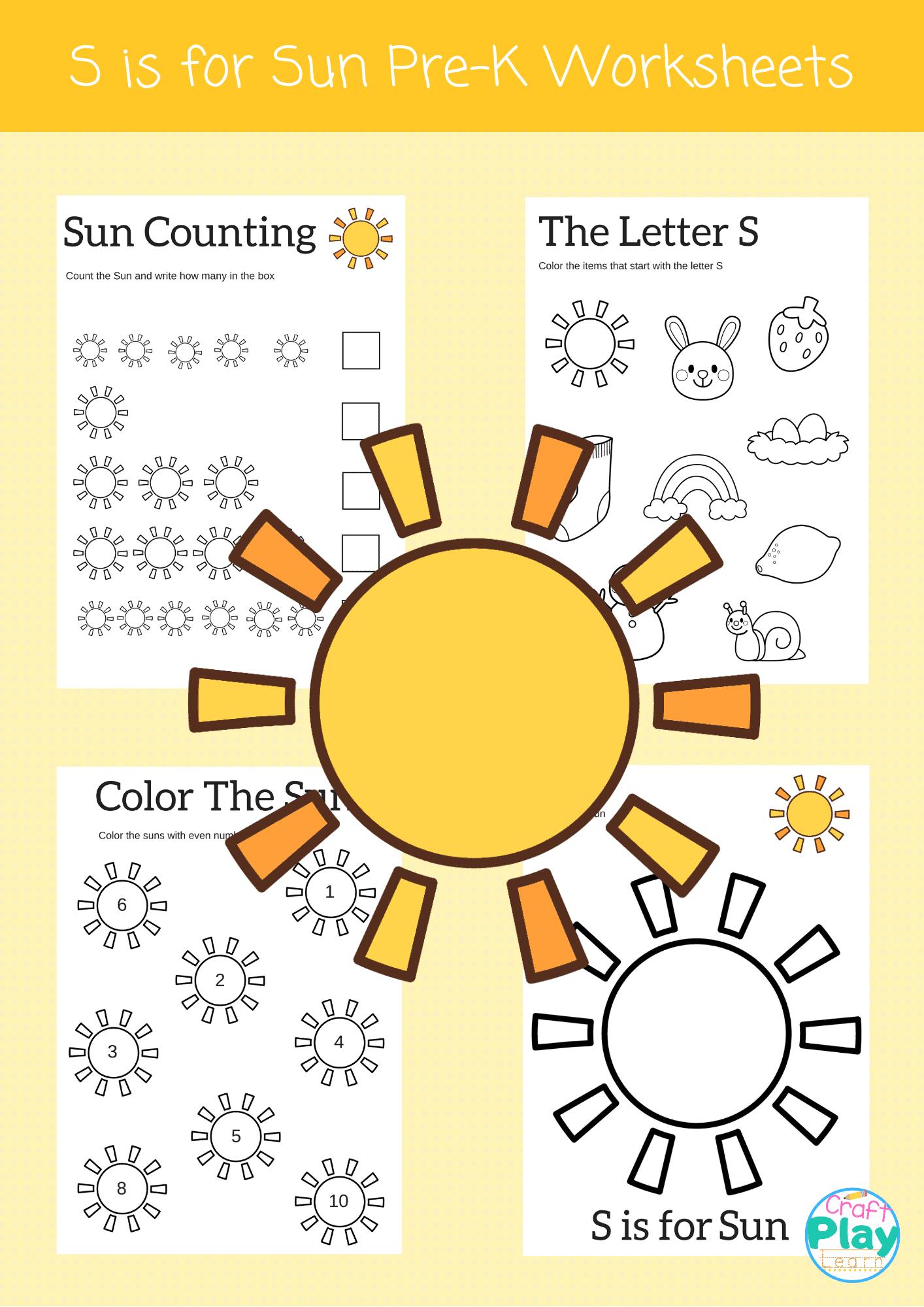 Letter S Worksheets For Preschool Kids