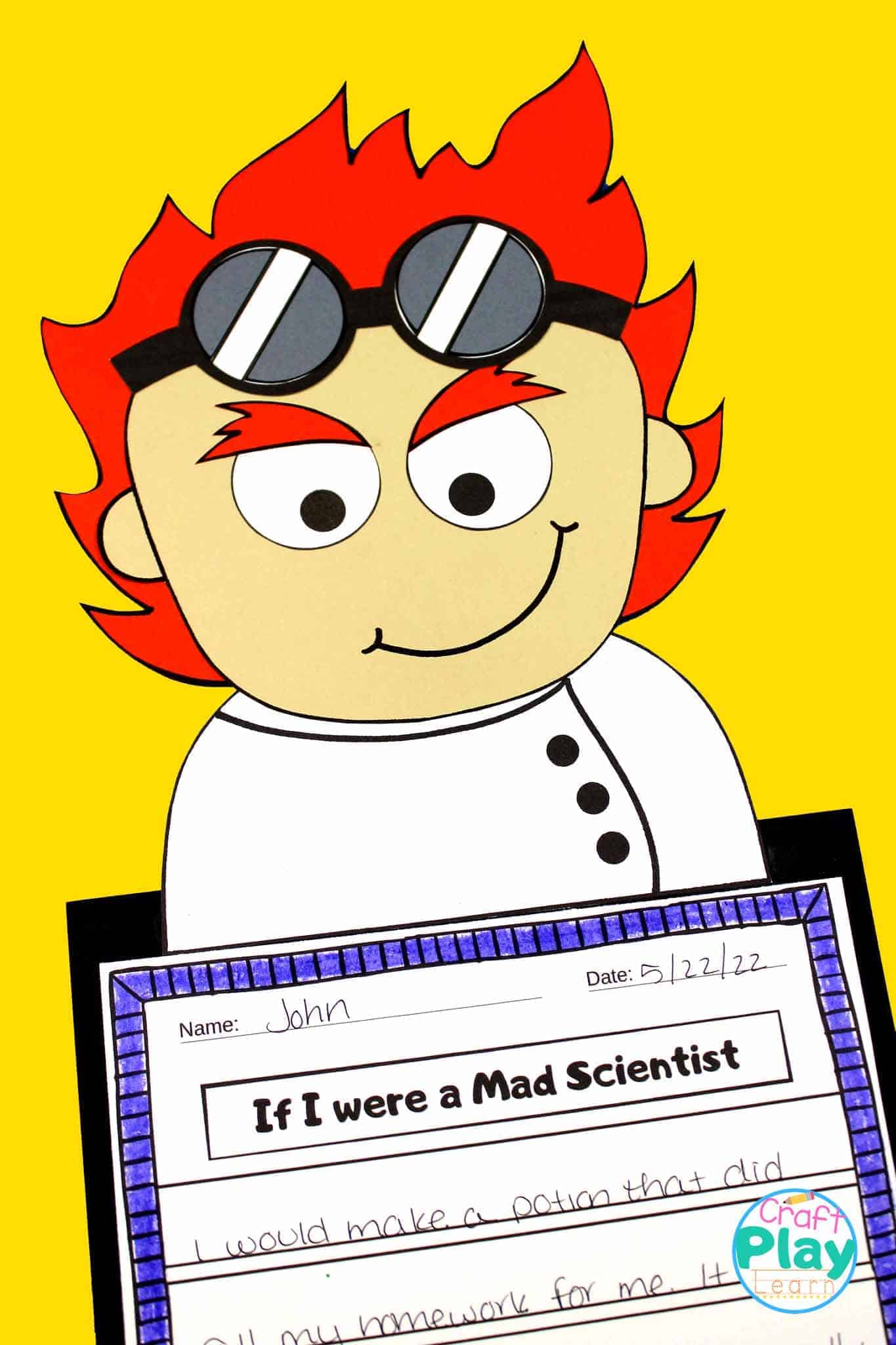 Super Fun Mad Scientist Craft With Writing Prompts