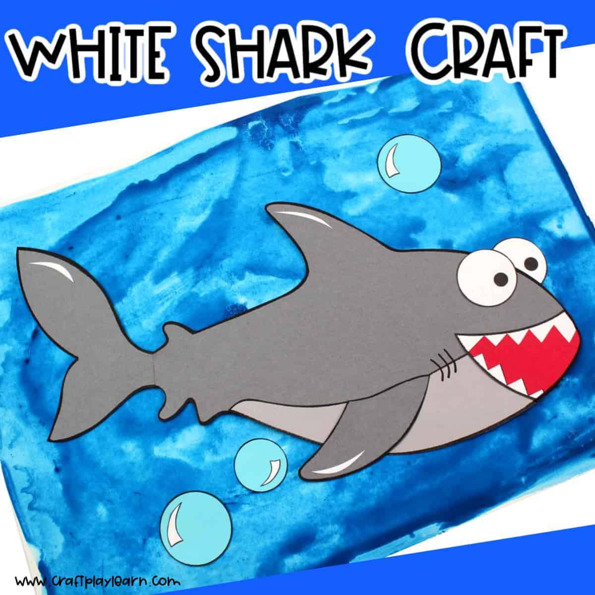 Great White Shark Craft For Kids