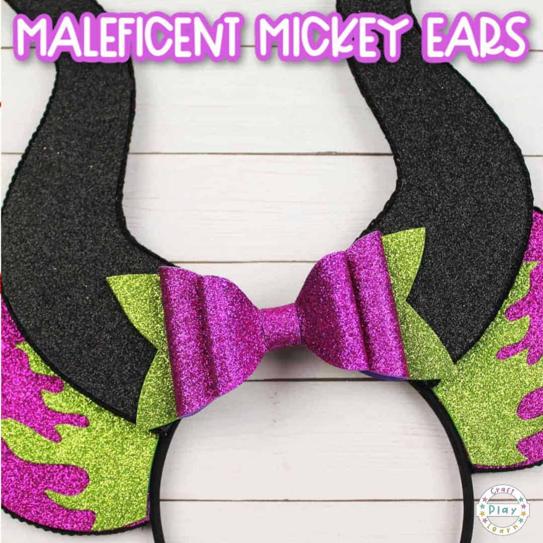 Diy Maleficent Mickey Ears Tutorial With Free Template