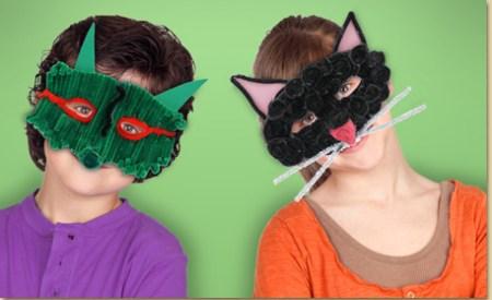 Fuzzy Black Cat Mask