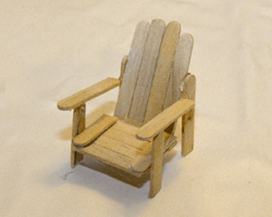 how to make an adirondack chair out of popsicle sticks