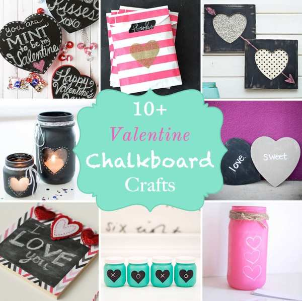 10+ Super Cute DIY Valentine Chalkboard Crafts