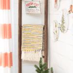 Farmhouse Diy Blanket Ladder