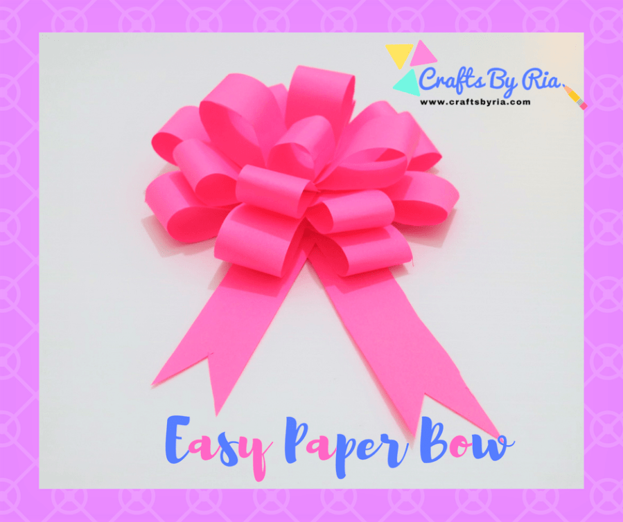 Easy Paper Bow is ready