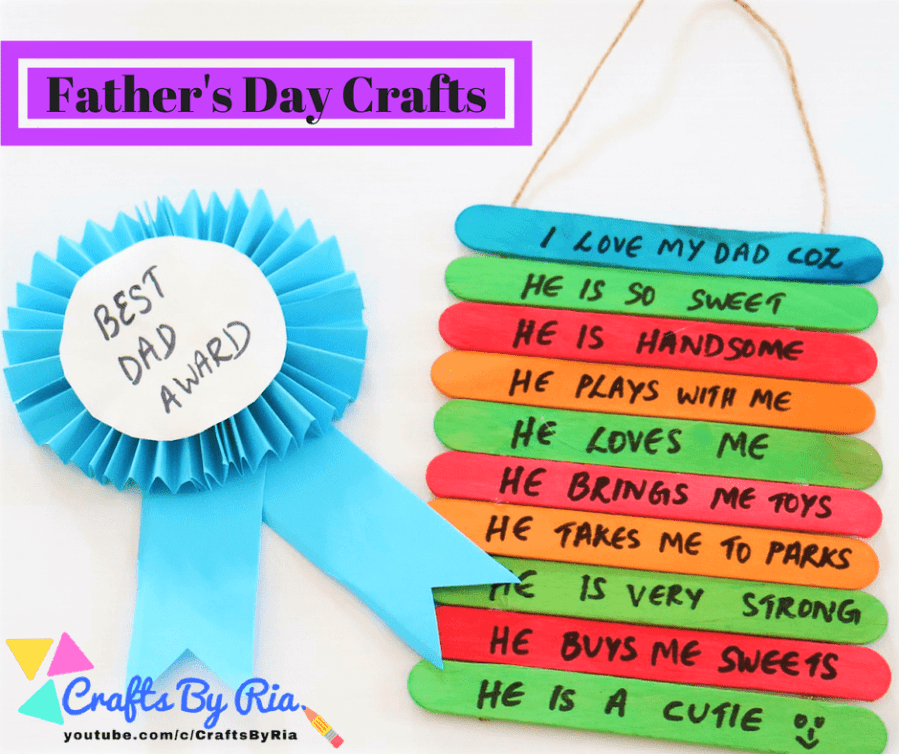 father day craft ideas 2 easy s day craft ideas for crafts by ria 4437