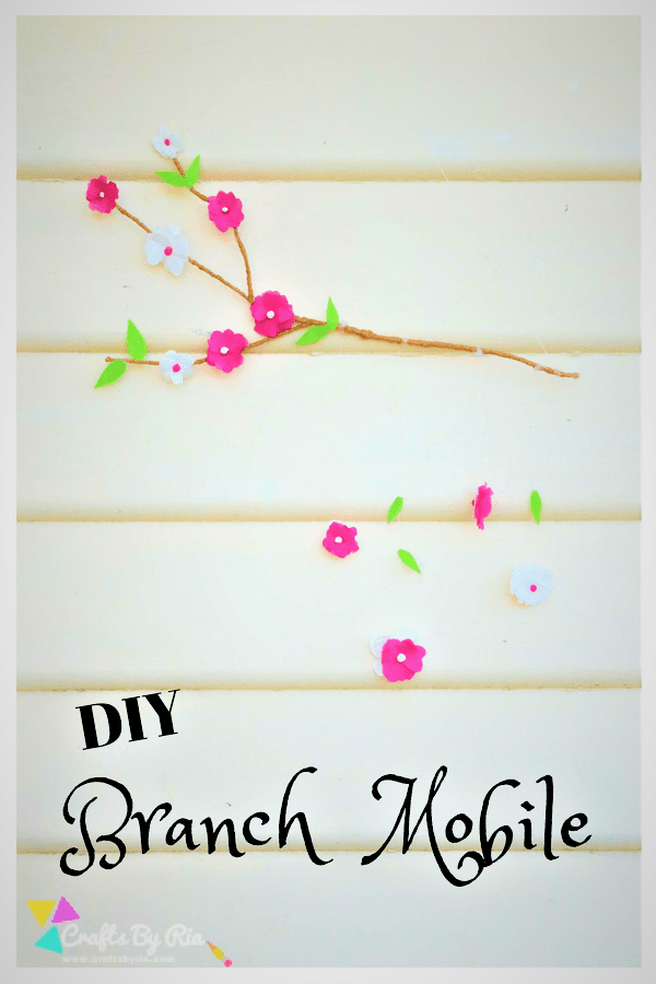 diy branch decor wall hanging mobile