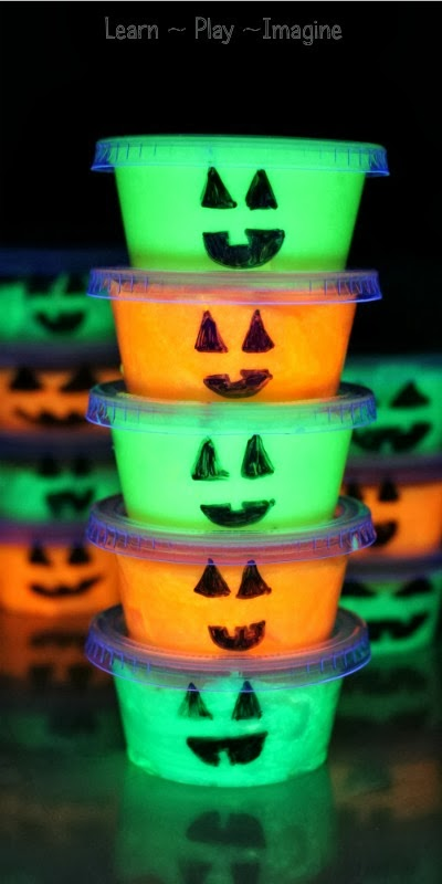 Glow in the Dark Pumpkin Slime-learnplayimagine