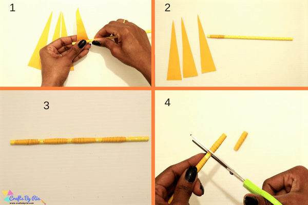 paper necklace craft for kids-step4