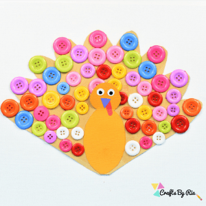 thanksgiving button turkey craft