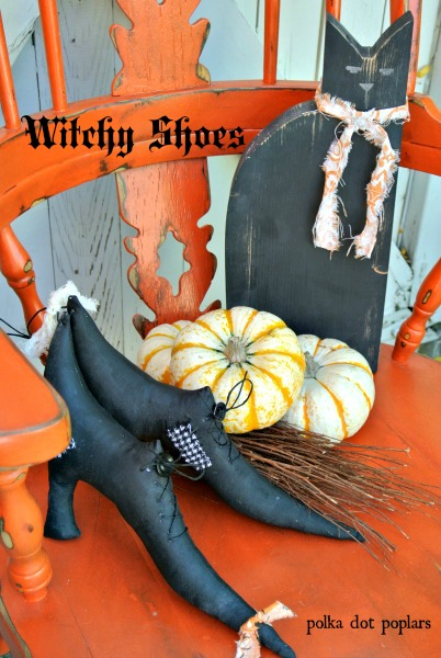 cheap Halloween decoration ideas-witchy shoes-polkadotpolars