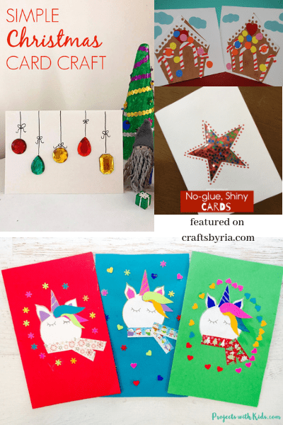 Cute homemade Christmas card ideas for kids to make