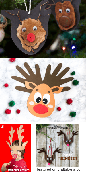 reindeer crafts-easy christmas crafts for kids