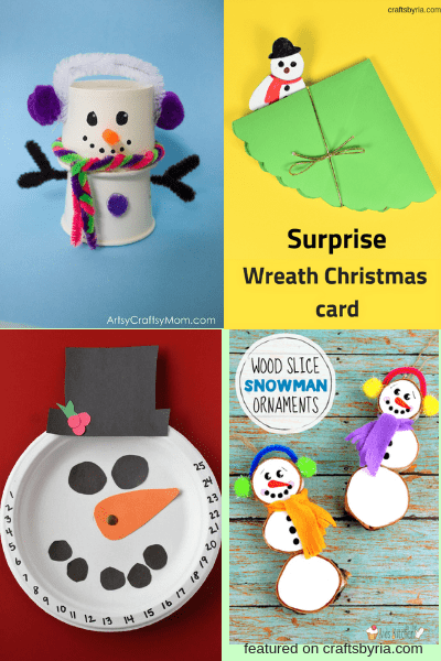 snowman craft-easy christmas crafts for kids