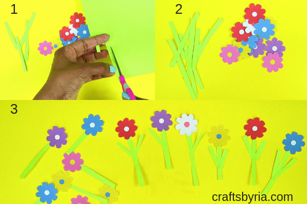 Fun spring craft for kids- Paper plate garden and moving bee-fb-step2