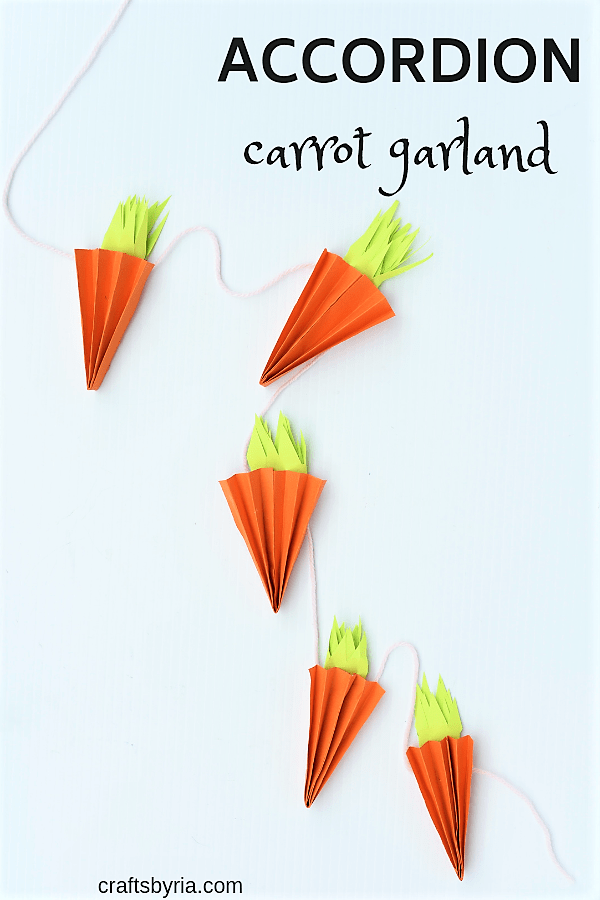 accordion carrot garland for easter-pin1
