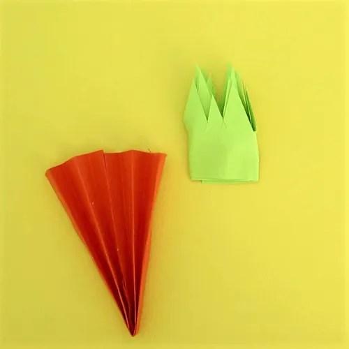 carrot craft Easter garland-step5