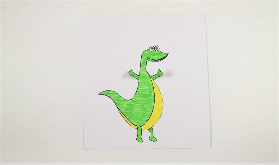 printable dinosaur craft-stick it on to cardstock