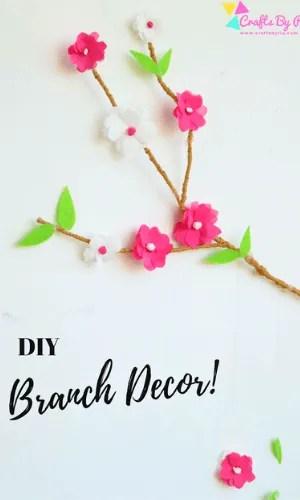 summer crafts for tweens-diy branch decor