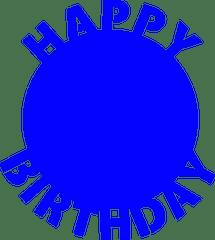 Happy Birthday Circle SVG
