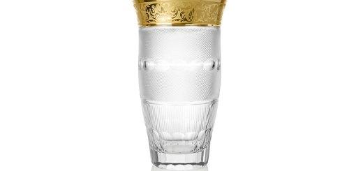 ボヘミアガラス モーゼル 花瓶 シルエット579/10160 ハンドカット ゴールド ( Bohemian Glass Moser Silhouette 579/10160, hand cut and gilded vase )