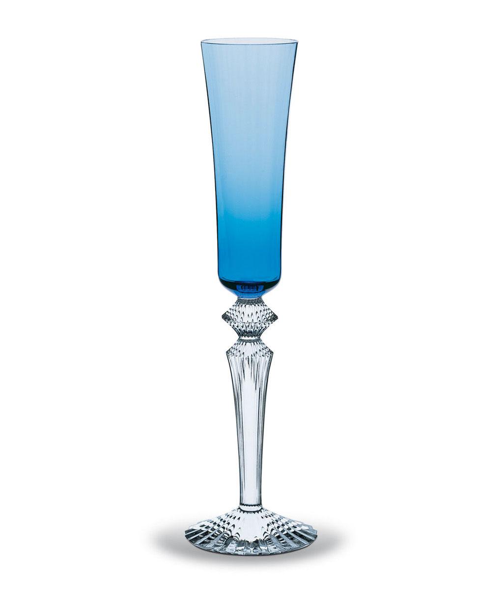 バカラ シャンパングラス ミルニュイ フルーティッシモ ブルー ( Baccarat Mille Nuits Flutissimo Crystal Champagne Flute Blue )
