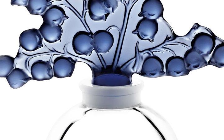 ラリック 香水瓶 クレールフォンテンヌ ミッドナイトブルー ( Lalique Clairefontaine Perfume Bottle, Midnight Blue )