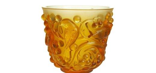 ラリック 花瓶 アヴァロン アンバー ( Lalique Vase Avalon Amber )