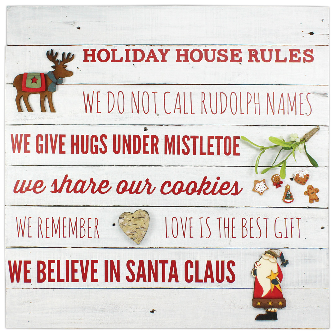 Holiday House Rules Pallet