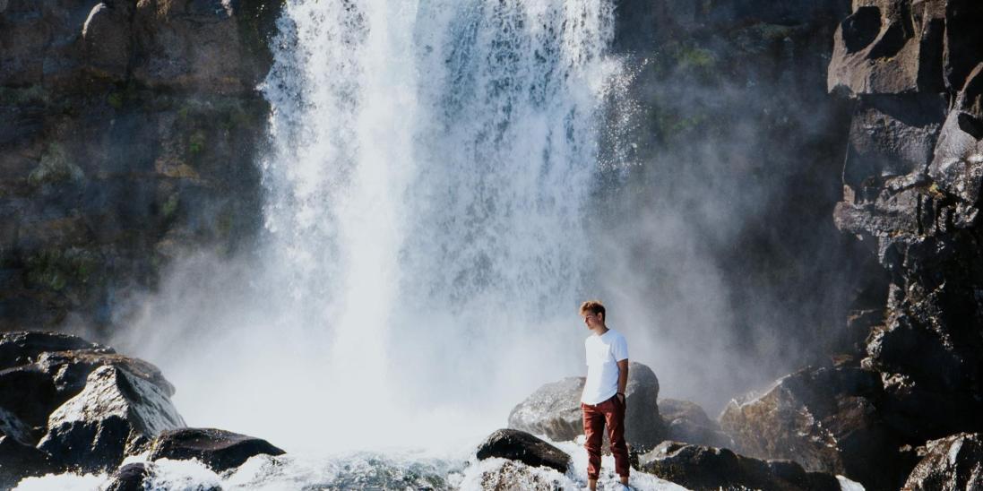 iceland, waterfall, wanderlust, travel, photograhy