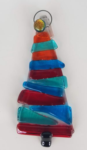 Strip of coloured glass