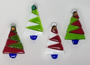Hand made glass Christmas Tree