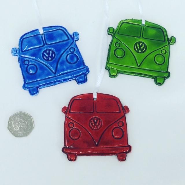 Iconic VW camoer van