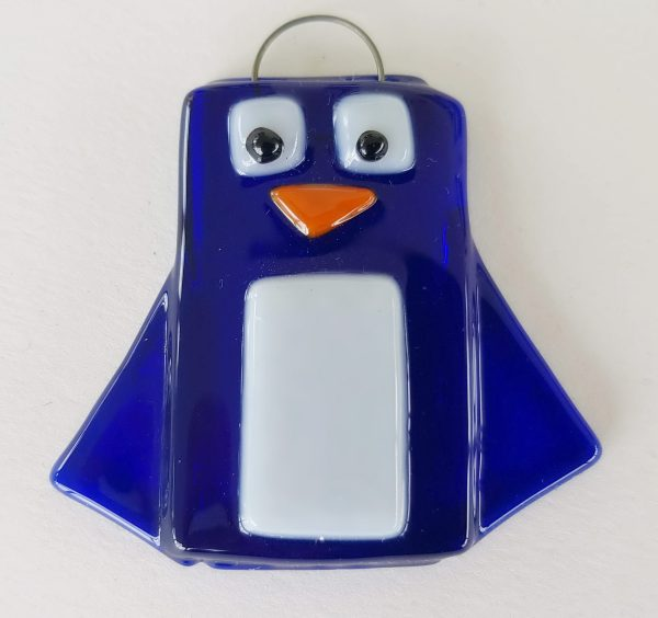 hand made glass penguin