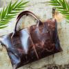 buffalo tote bag, leather bag