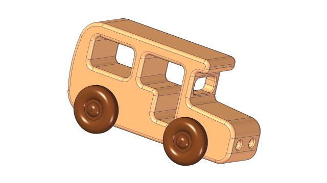 Wooden bus kids toy plan - 2,68Mb; 9 Pages