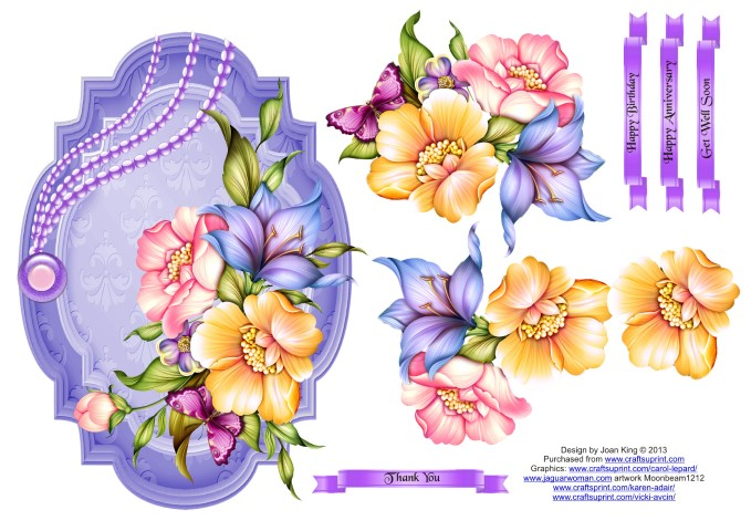 Instructions For My Floral Decoupage Toppers