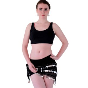 Belly Dance Coined Hip Scarf