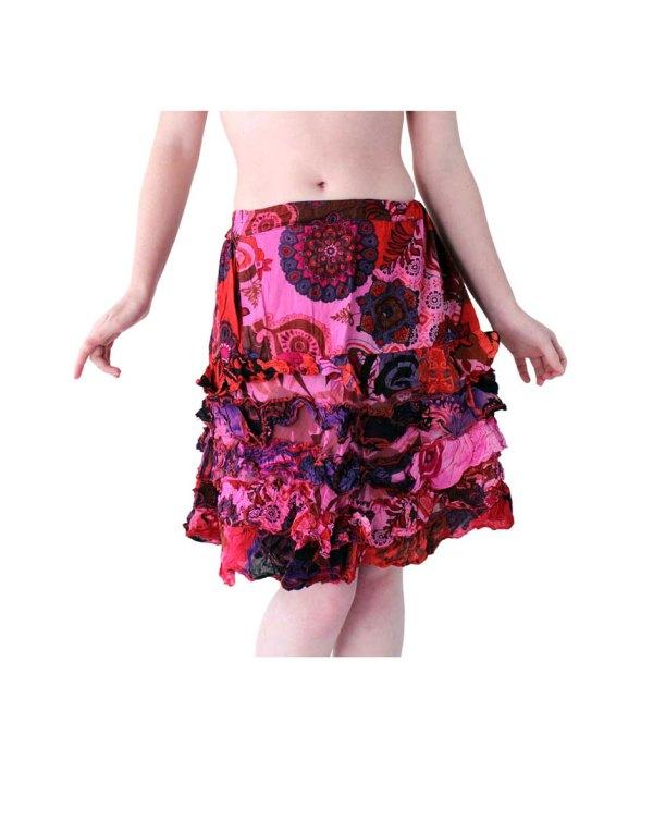 Boho Mini Skirt in Pink