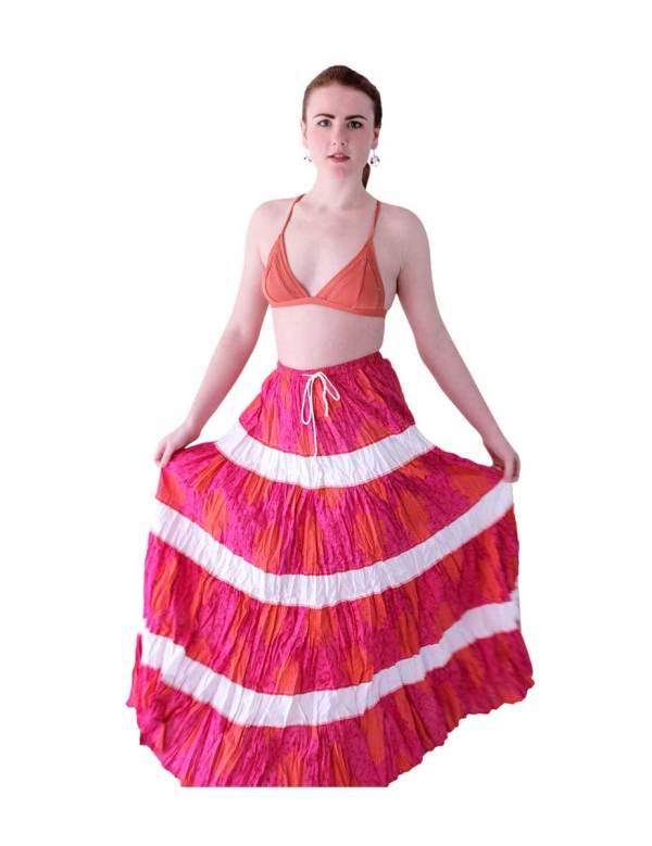 Boho Long Skirt in pink