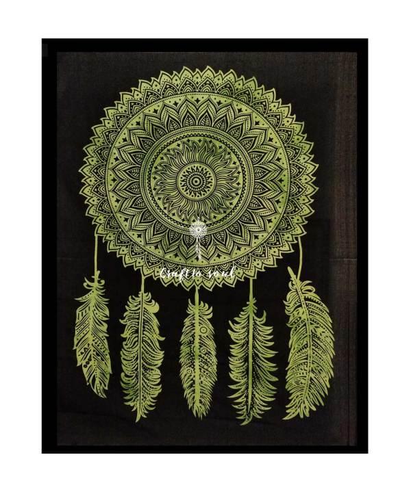 Dream Catcher Mandala Wall Hanging green
