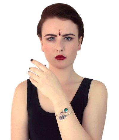 Hamsa Stone Bracelet